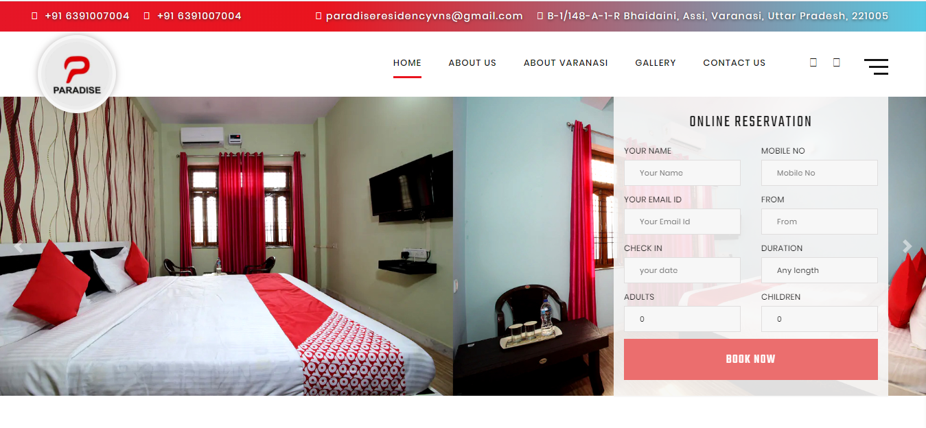 hotel website designing company in lucknow