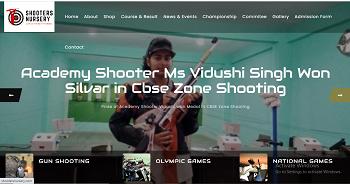 Shooter Nursery website development in varanasi