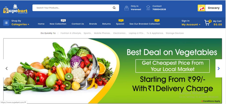 E Commercel website designing company in varanasi india
